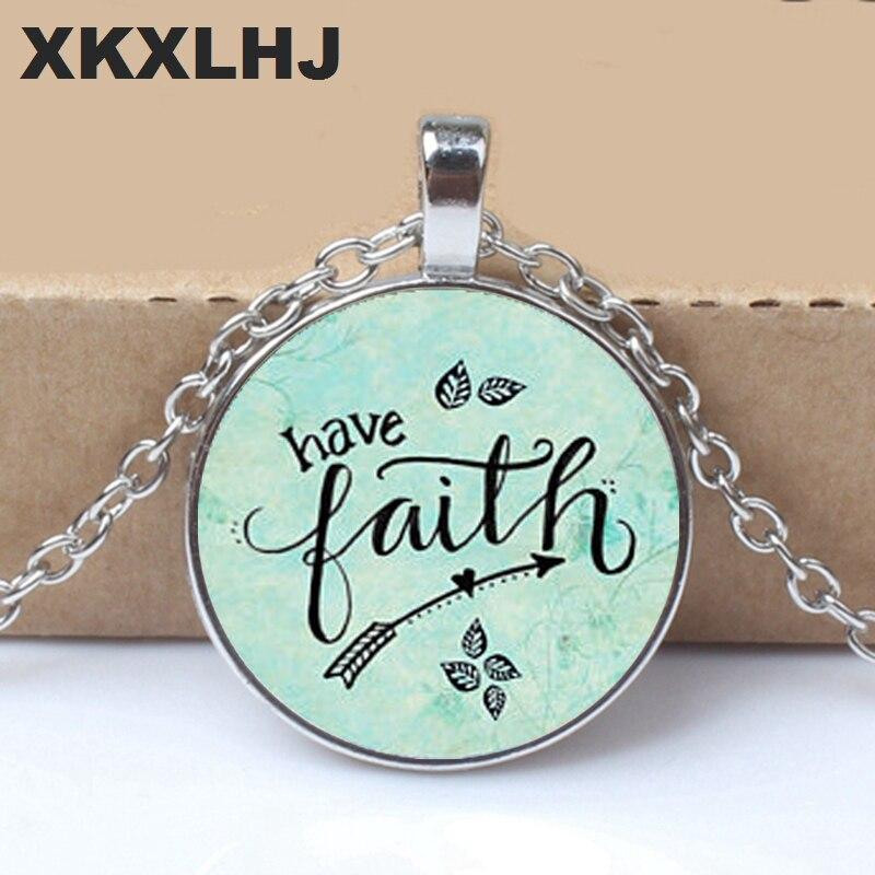 2018 HAVE FAITH NECKLACE, Charm Pendant, gift for Her, Faithful necklace, charm Warrior, Survivor