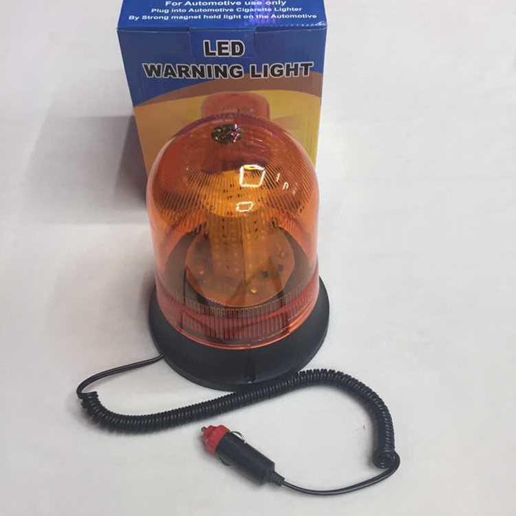 FGHGFF Roadway Safety Orange Alarm Lamp 12V Car Magnetic Beacon Rotating Revolving Strobe Flash Warning Alarm LED Light