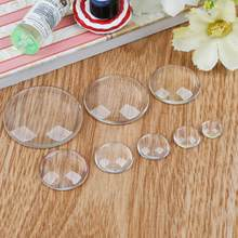 Hot 8/10/12/14/16/18/20/25/30mm Round Flat Back Transparent Clear Glass Cabochon for DIY Charm pendant Necklace Jewelry Making(China)
