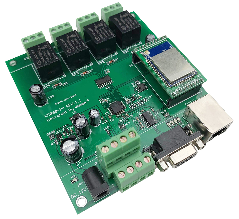 4 Gang Network WiFi PCB Development Board TCP IP Relay Control Diy Switch Module Smart Home Automation Remote Security Alarm