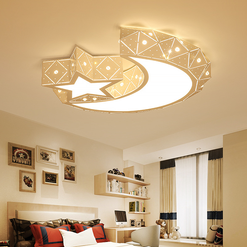 Surface Mounted Ceiling Lamp Lighting Modern Romantic Warm Star Moon Atmosphere Fexture Ceiling Light For Bedroom Children RoomSurface Mounted Ceiling Lamp Lighting Modern Romantic Warm Star Moon Atmosphere Fexture Ceiling Light For Bedroom Children Room