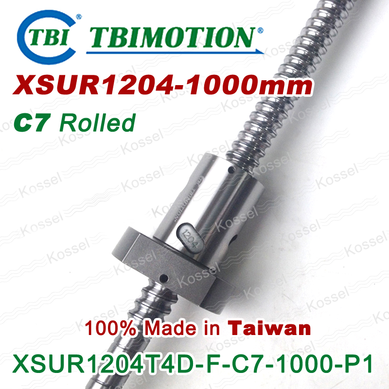 TBI ballscrew sfu1204 C7 1000mm with sfu 1204 ball nut XSU1204 + end machined for high stability CNC kit set