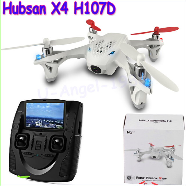 1 unids Hubsan X4 H107D FPV RC Quadcopter transmisor LCD de la cámara drone Live Video Audio Streaming grabación helicóptero nave de la gota