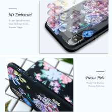 Flowers 3D Printed Soft Silicone Phone Case for iPhone