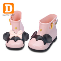 Waterproof Child Rubber Boots Jelly Soft Mouse Ears Infant Shoe Girl Rain Boots Baby Kids Rainboots