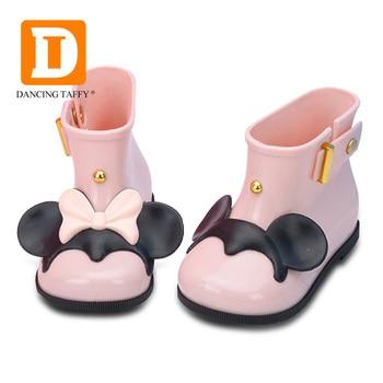Impermeable niño Botas de goma suave de la jalea ratón orejas infantil Zapatos niña Botas de lluvia de los niños del bebé Botas de lluvia de las niñas de los niños zapatos de la lluvia de