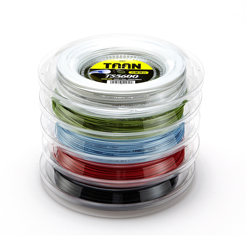 Free Shipping TAAN 1.15mm Tennis String Polyester TS5600 String Round Durable Tennis Training String 200m Reel 50-55 Pounds