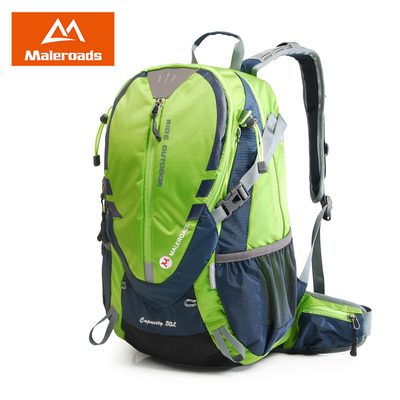<font><b>Maleroads</b></font> Cycling Bakcpack <font><b>30L</b></font> Bicycle Backpack Biking Rucksack Road Riding Packsack for Camping Hiking Traveling Bag Men Women image