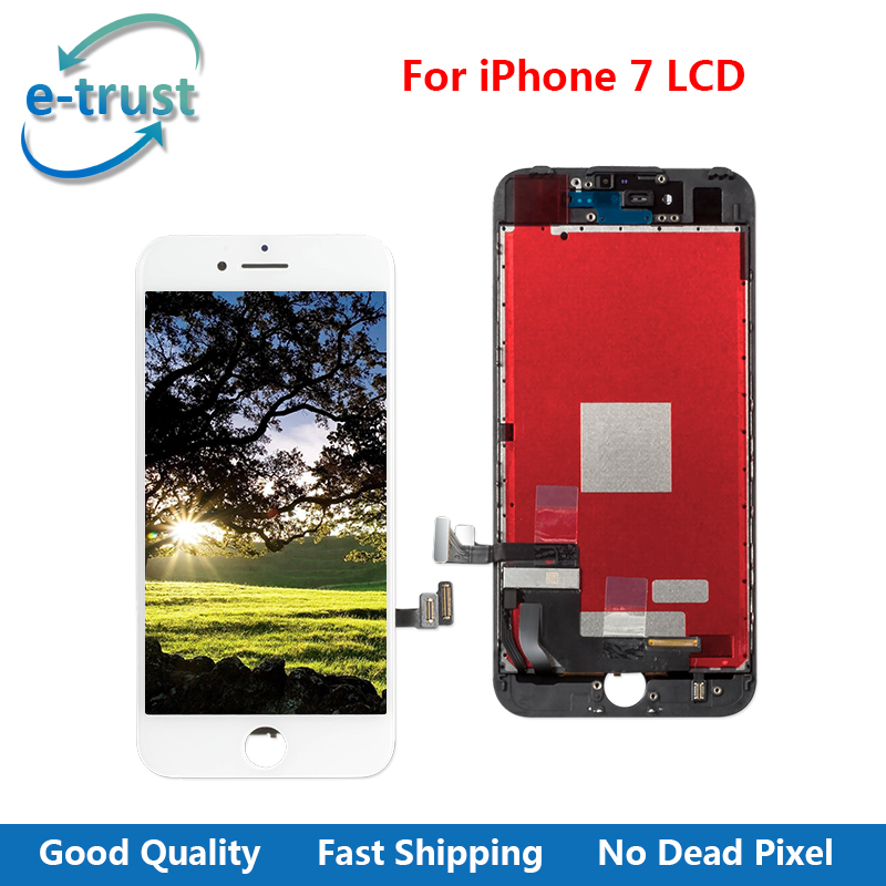 e-trust 3PCS/LOT AAA+ No Dead Pixel Touch Screen For iPhone 7 LCD Display Digitizer Assembly +Black & White With Free Shipping 10pcs lot grade aaa pantalla black white for iphone 5c lcd display with touch screen digitizer assembly in stock free shipping