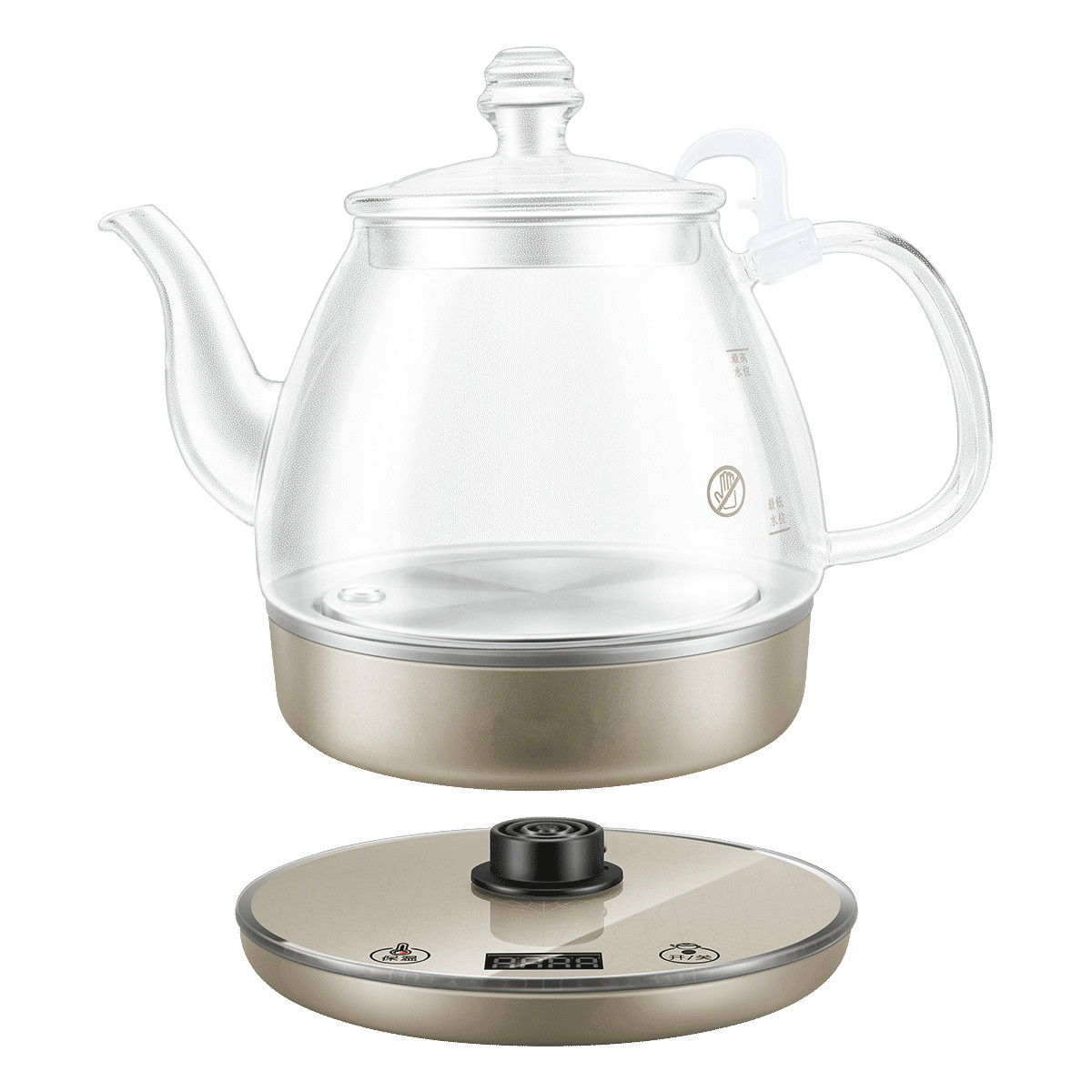 Electric kettle The electric is used for automatic water-fired power cut glass teapot цена
