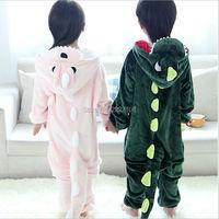 Children Unisex Dragon Kids Flannel Animal Pajamas Anime Cartoon Costumes Sleepwear Cosplay Onesie Dragon One Piece