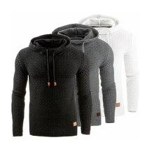 Брендовый однотонный мужской свитер с длинным рукавом и капюшоном, спортивный костюм, пуловеры, Повседневный свитер, мужская спортивная одежда