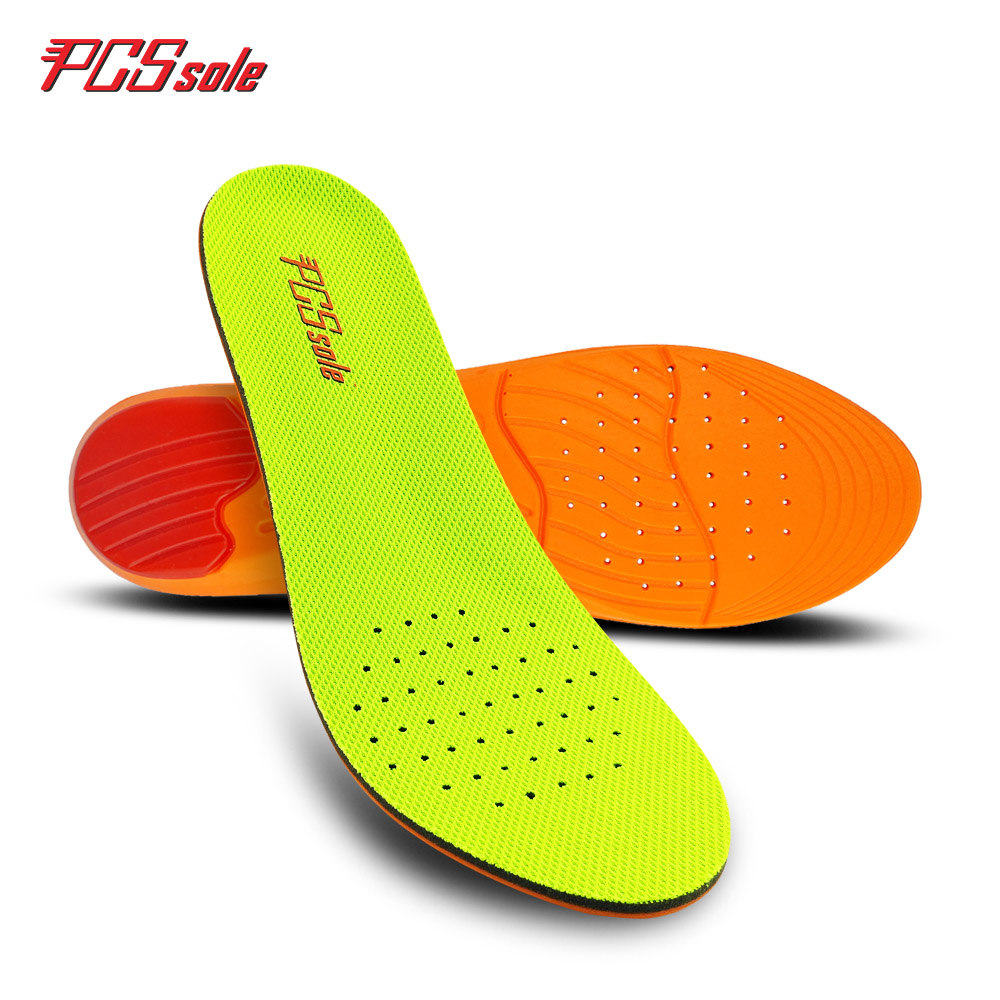 original PCSsole Free size PU insoles shock absorption light breathable inserts for man&women memory foam shoes cushion P1002 2017 promotion gel insoles shock