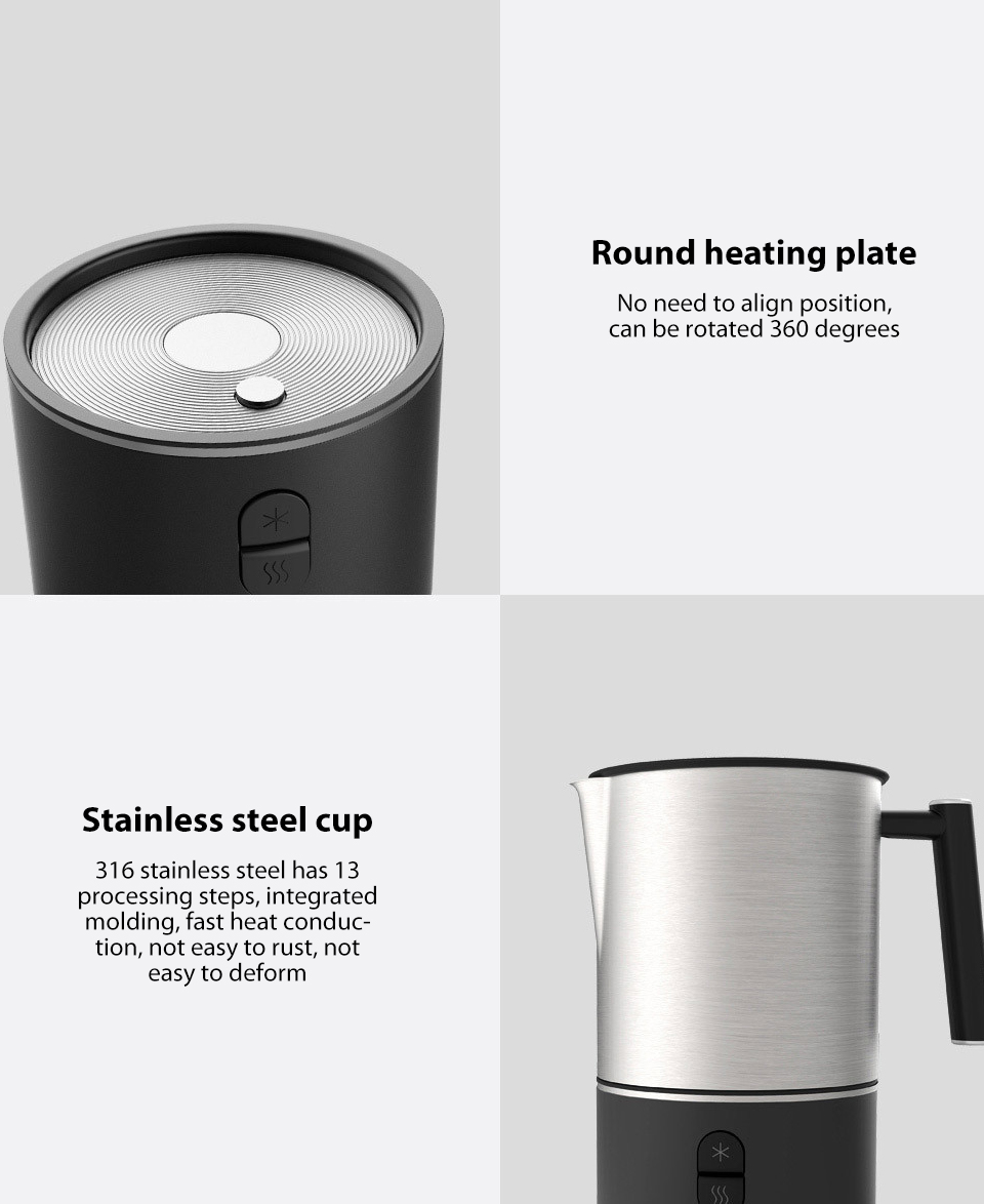 xiaomi scishare electric milk frother cappuccino shaker steamer jugs machine pitcher automatic foamer stainless maker for coffee (15)