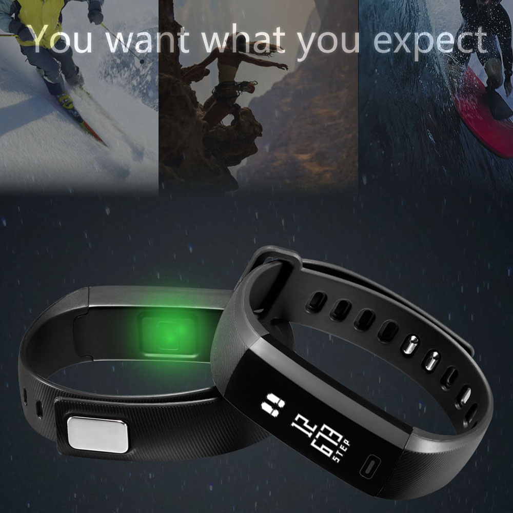 GIMTO Smart Fitness Bracelet Sport Watch LED Wristband Heart Rate Blood Pressure Sleep Monitor Waterproof For Android IOS
