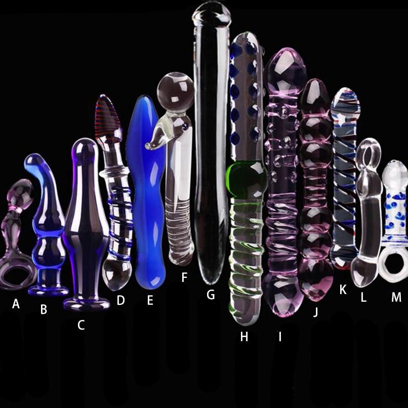 1 stücke Glas Kristall Dildo Anal Plug Perlen Gefälschte Penis Cock Vergnügen Zauberstab Anal Masturbation Sex Produkte für Frauen Unisex sex Spielzeug