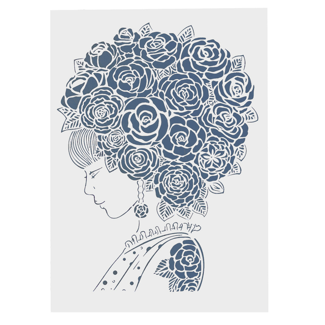 a4 a3 a2 lady flower mandala stencils for scrapbooking painting