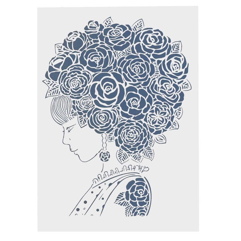 aliexpress com   buy a4 lady flower mandala stencils for
