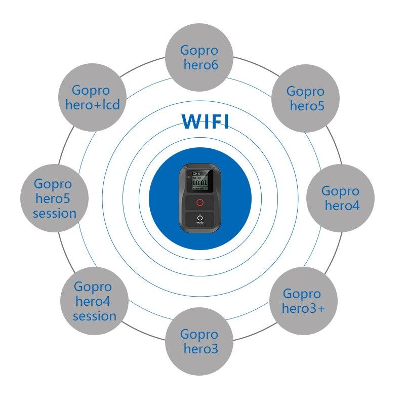 2018 pour télécommande étanche GoRro + étui de protection + sangle de poitrine pour Gopro Hero 6 5 4 3 + 3 7 4,5 accessoires de Session - 6