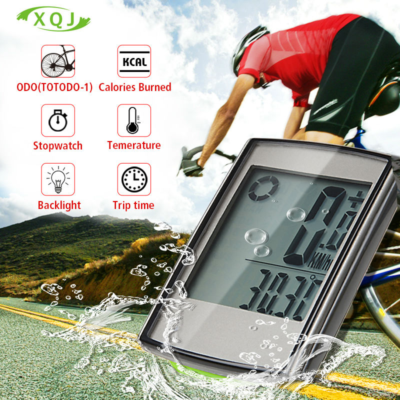 купить  Bike Bicycle Computer Wireless Bicycle Speedometer  Waterproof  Stopwatch Backlight odometer Temperature Accessories battery  недорого