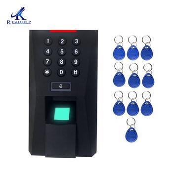 2000 użytkowników czytnik linii papilarnych do kontroli dostępu aplikacje RFID biometryczna kontrola dostępu za pomocą odcisków palców System dostępu do drzwi tanie i dobre opinie Realhelp Simple access control function ID card WG26 output 125khz 12V DC 3A 145x75x26mm 0 23KG