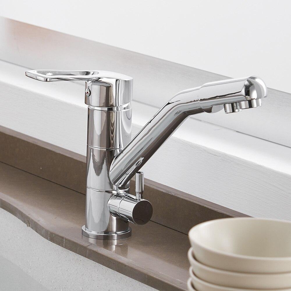 Cuisine purifier robinets mélangeur robinet 360 degrés Rotation avec Purification de l'eau caractéristiques mélangeur robinet grue pour WF-0182 de cuisine - 4