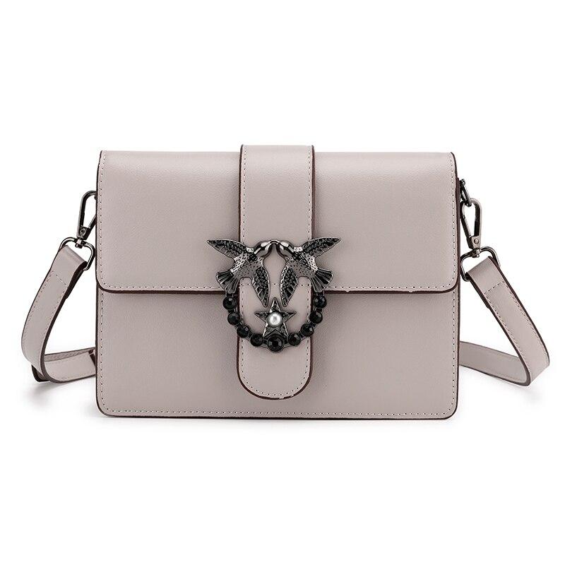 Célèbre marque sac pour femmes 2019 sacs à main de luxe femmes sacs Designer PU cuir blanc gris Beige femmes Messenger sacs à bandoulière