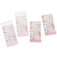 6sheets/pack Kawaii Cartoon Sticker Transparent Diary Album Mobile Phone Decoration Dog Sea Lion Account Stickers Scrapbooking