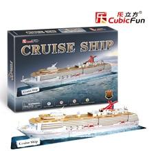 Candice guo CubicFun 3D puzzle paper building assemble liner model boat cruise ship kid children birthday