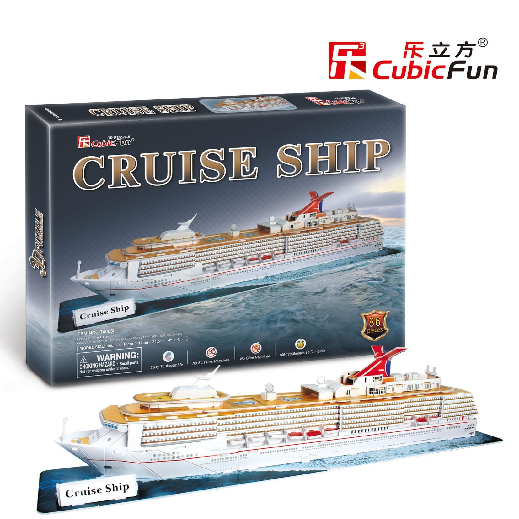 Candice guo CubicFun 3D puzzle papier gebäude montieren liner modell kreuzfahrtschiff kid...