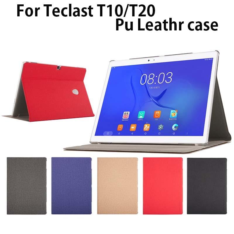Para teclast t20 10.1 polegada tablet caso de couro do plutônio t10