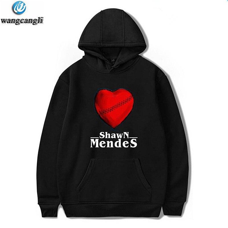 2018 Shawn Mendes Harajuku Print Hoodies Men/Women Sweatshirt Autumn Streetwear Cap Logo Hoodie Casual Jacket Coat Plus Size 4XL