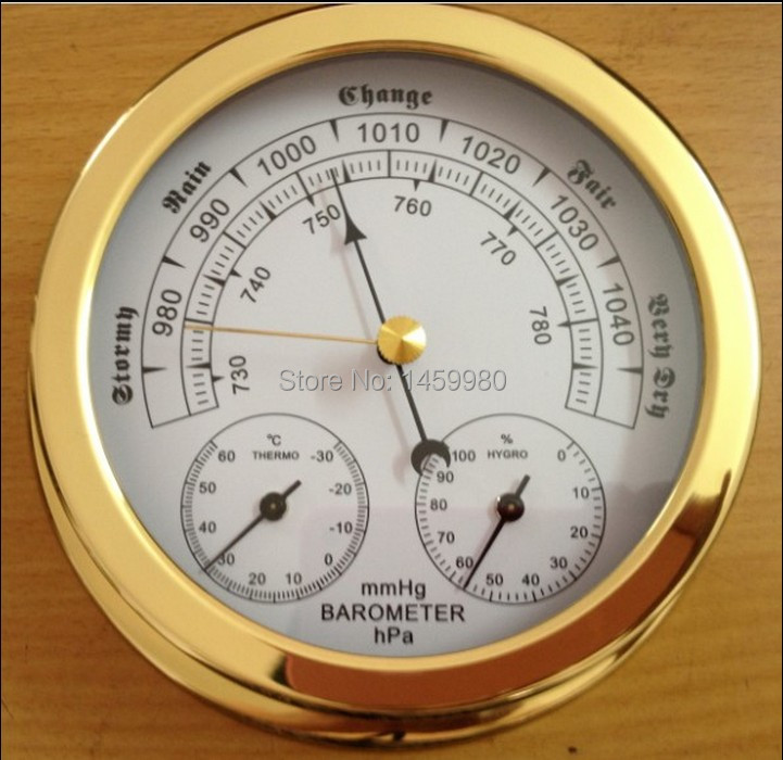 barometer  thermometer hygrometer  in one for  marine weather station 143mm diameter european style dark gray 22 5cm 3 in 1 thermometer hygrometer barometer weather station