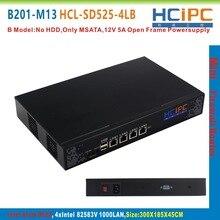 HCiPC B201-M13 HCL-SD525-4LB, ATOM D525 82583V 4LAN Mini Firewall Barebone,4LAN Mini Router,Mini PC,4LAN Motherboard