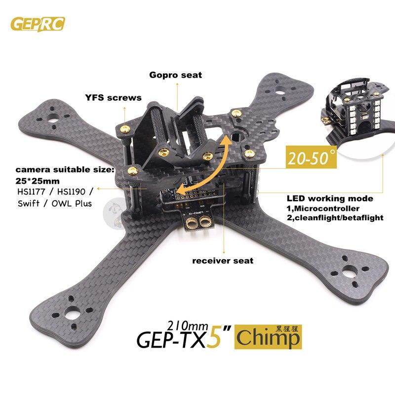 DIY quadcopter FPV mini drone GEPRC GEP-TX chimpancé 3 K pure marco ...