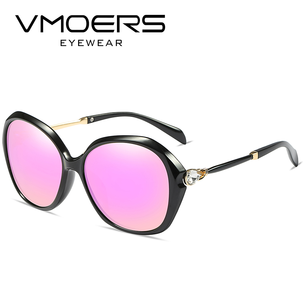 ee8884da7e VMOERS Ladies Shield Designer Sunglasses Women Polarized Brand Shades  Female Pink Blue Mirror Diamond Sun Glasses For Women 2017-in Sunglasses  from Apparel ...