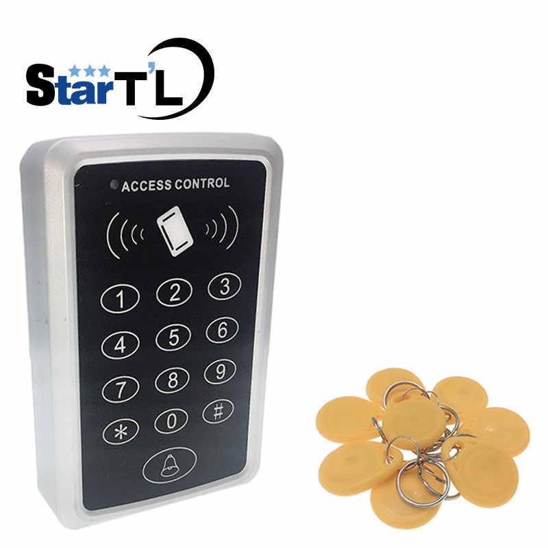 T11 Cổng truy cập hệ thống điều khiển RFID điều khiển truy cập đầu đọc 10 EM4100 móc khóa 125 Khz Đầu Đọc Thẻ Cho Truy Cập Cửa