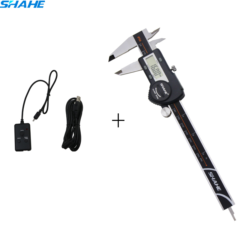 SHAHE high quality digital caliper 150 mm with USB type date cable line