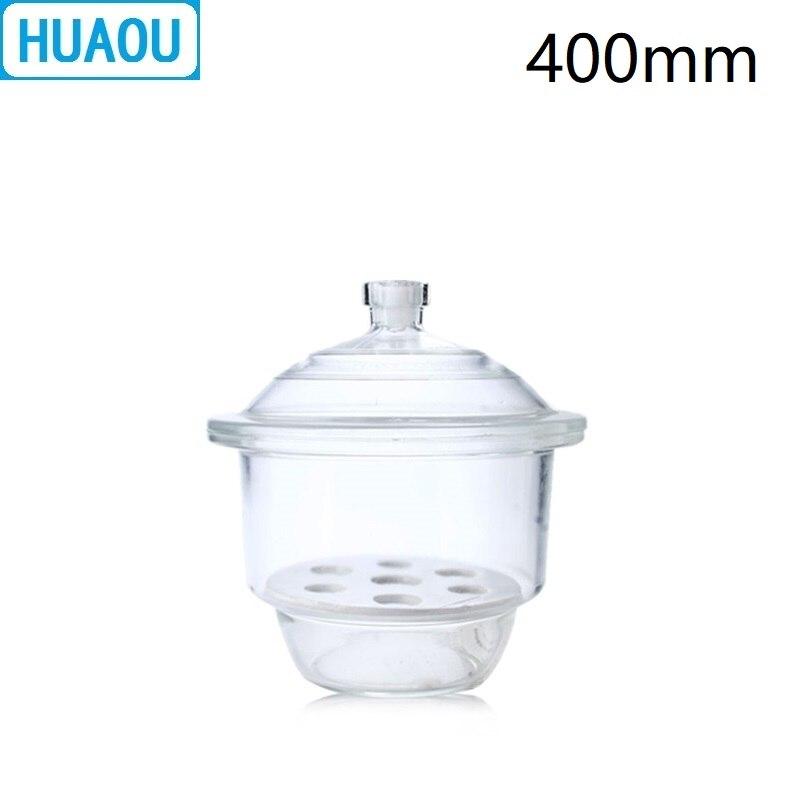 huaou 400mm placa de vidro transparente e equipamento de secagem de laboratorio exsicador com porcelana