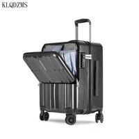KLQDZMS 20 zoll Kabine Roll Gepäck Reise Koffer mit Laptop Tasche Frauen trolley taschen auf rädern männer Business case