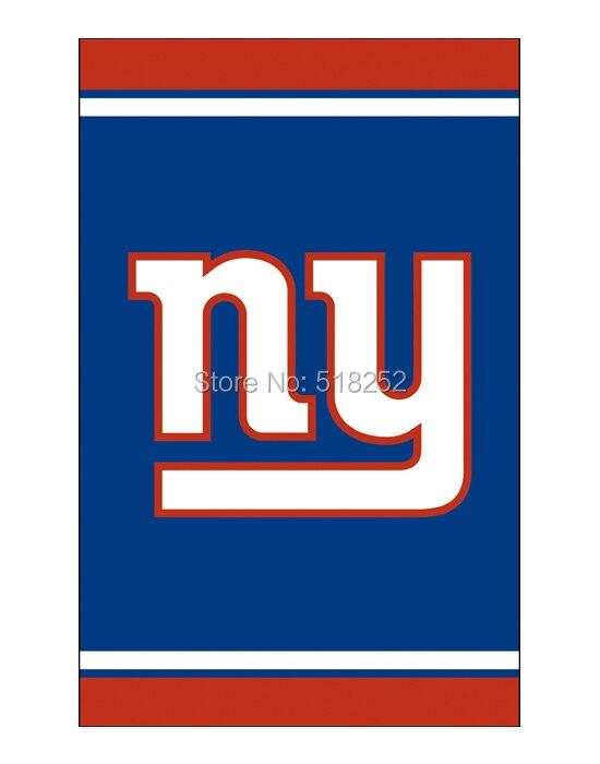 NY Giants вертикальный флаг 3x5ft 100d 150x90 см NFL Баннер полиэстер пользовательских флаг люверсами 6038, бесплатная доставка ...