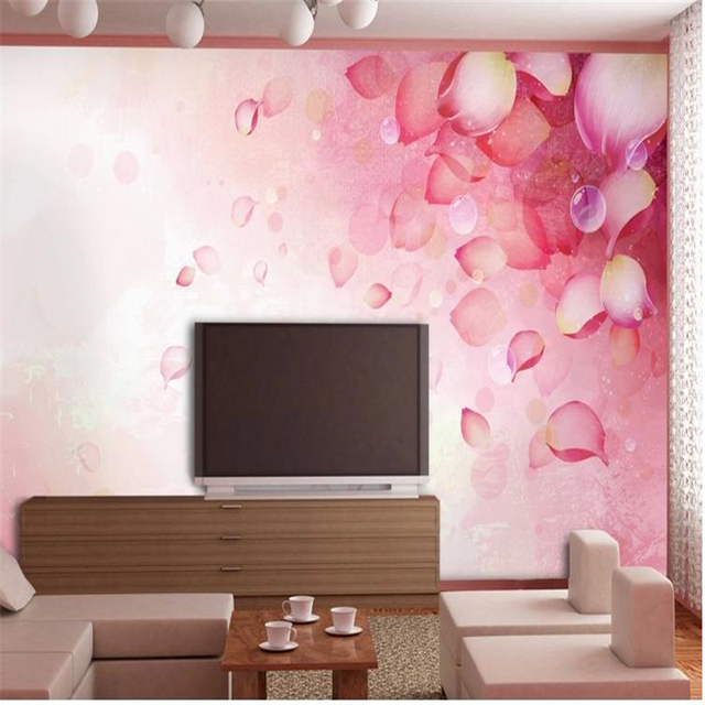 beibehang Rose leaf Custom 3d photo wallpaper 3D minimalist large ...