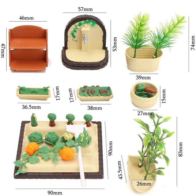 Miniatures Gardening For Doll House Accessories