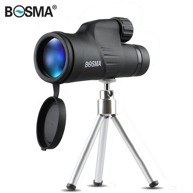 BOSMA 10X50/12X50 Monocular HD Prism Nitrogenization Waterproof Bird Watching Telescope with Tripod for Outdoors Hunting Camping 50 10