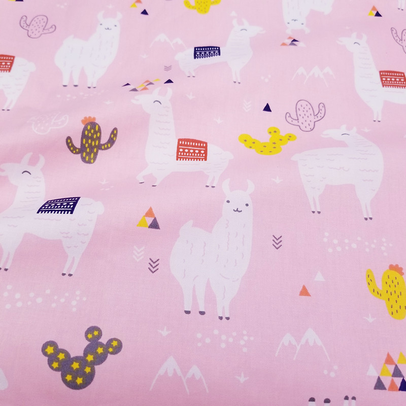Cotton Bed Sheet Fabric Patchwork Cloth DIY Sewing Quilting Fat Quarters Material For Baby Child in Fabric from Home Garden