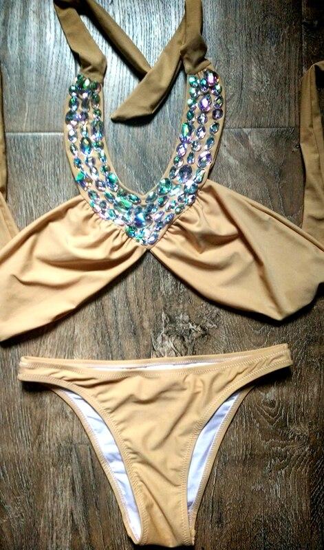 2017 VÉNUS VACANCES Dernières sexy cristal strass beachwear de haute qualité bikini diamant maillots de bain femmes maillot de bain filles beachwear