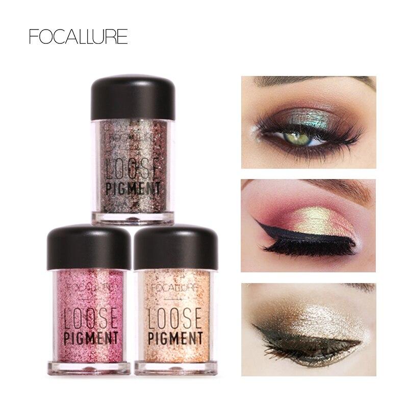Schönheitsprodukte Sparsam Focallure 12 Farben Lidschatten Pulver Super Helle Glänzende Helle Glitter Pulver Diamant Make-up Lidschatten