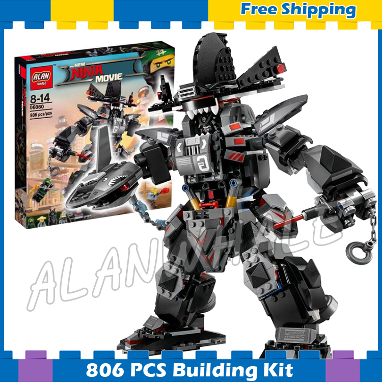 806pcs Ninja Garma Mecha Man Samurai Mech Robots 10719 Model Building Blocks Children Assemble Toys Bricks Compatible With lego lepin 663pcs ninja killow vs samurai x mech oni chopper robots 06077 building blocks assemble toys bricks compatible with 70642