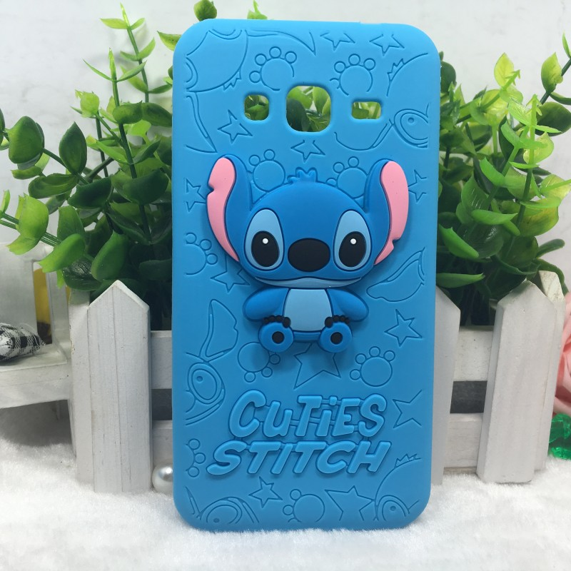 case for coque samsung galaxy j3 new 3d cartoon lovely stitch soft silicone case for samsung