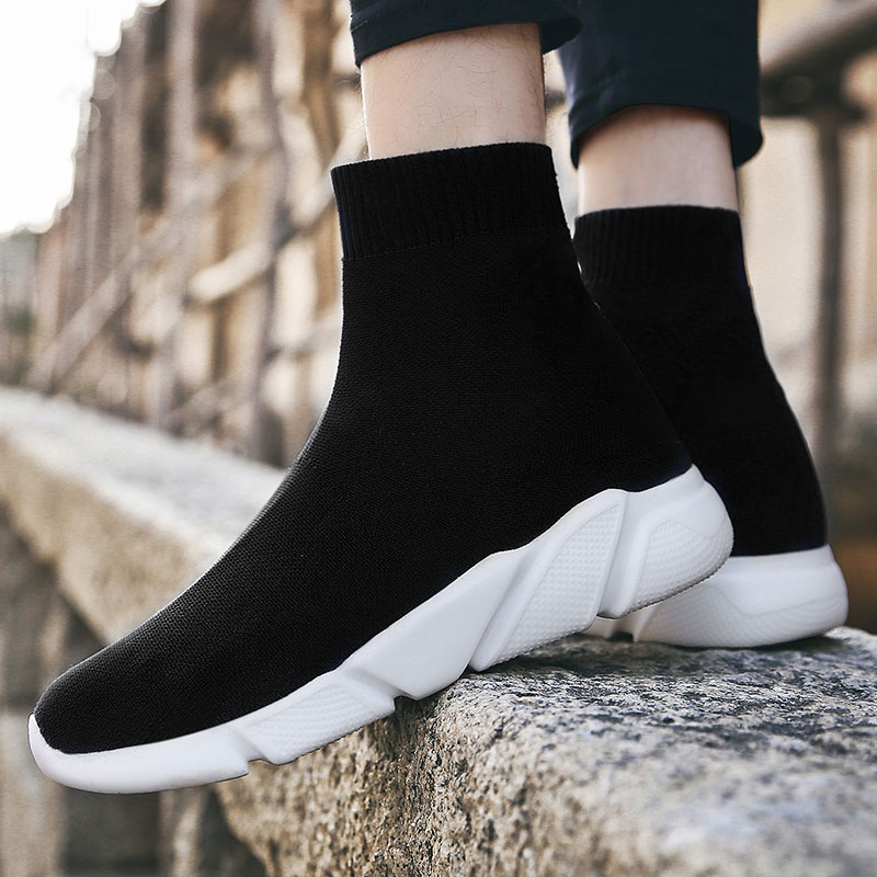 MWY Men Running Shoes Sports Zapatillas Hombre Deportiva High Top Socks Sneakers Knitted Jogging Shoes Comfortable Plus SizeMWY Men Running Shoes Sports Zapatillas Hombre Deportiva High Top Socks Sneakers Knitted Jogging Shoes Comfortable Plus Size